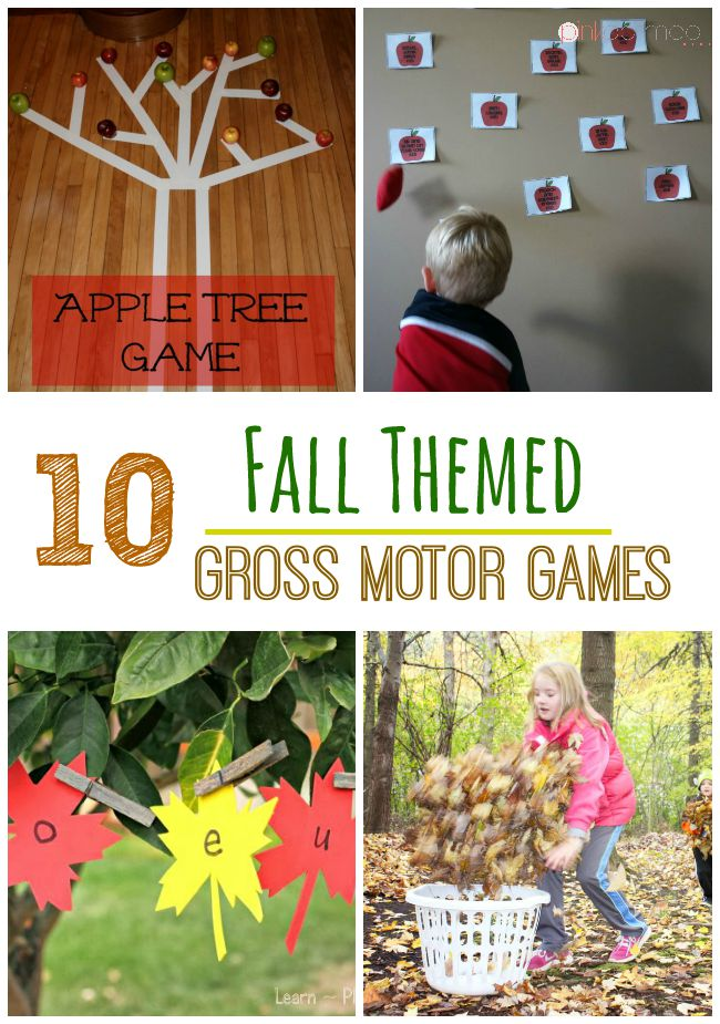 10 Fall Themed Gross Motor Games - Pink Oatmeal