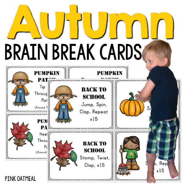 Autumn Brain Break Cards Cover