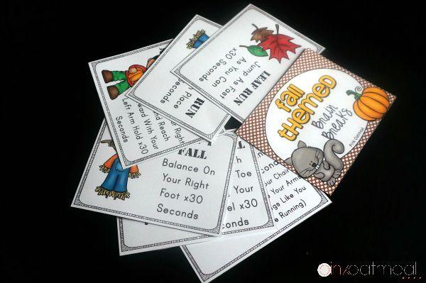Fall Brain Break Cards - Blog - Pink Oatmeal