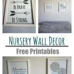 Nursery Wall Decor – With Free Printables