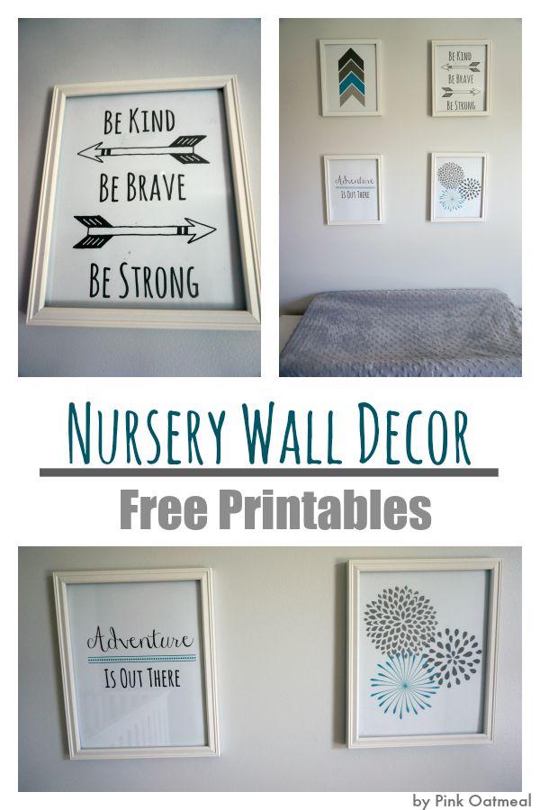 Nursery Wall Decor - Pink Oatmeal