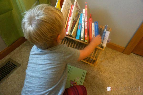 Taking Books Off The Book Shelf - Pink Oatmeal