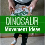 Dinosaur Movement Ideas perfect for the classroom, therapy, or at home. Combine these movement ideas with a dinosaur unit! Perfect for preschool on up!