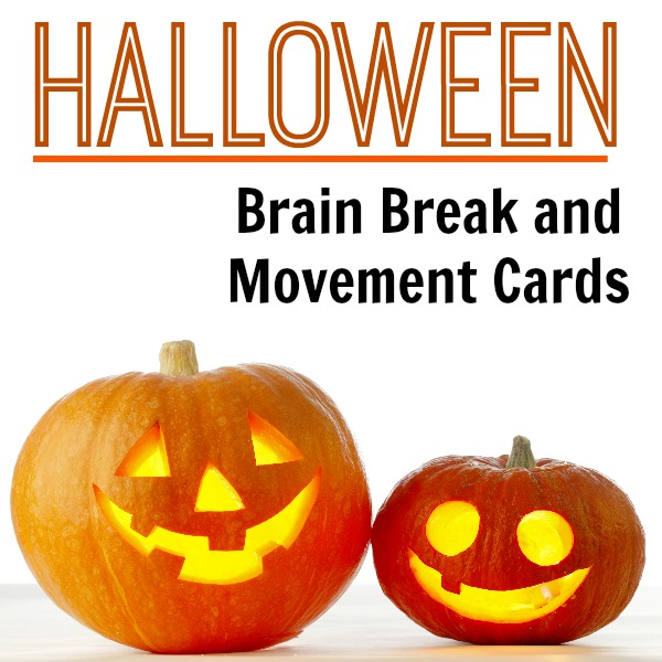 Halloween Brain Break Cards Cover