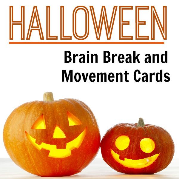 Halloween Brain Break Cards Cover
