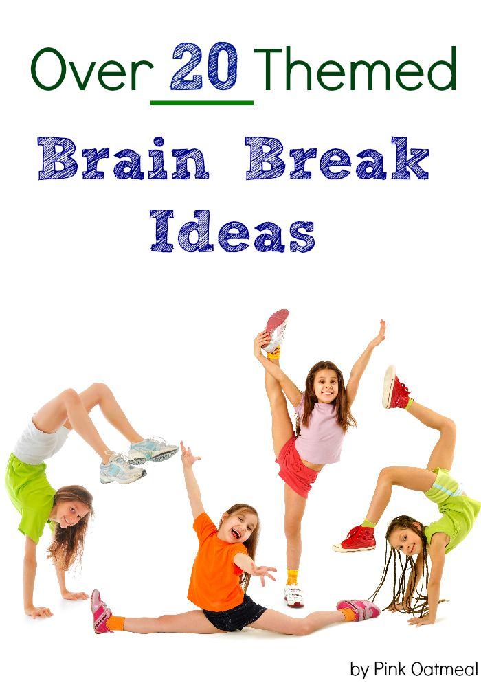 Brain Break Ideas.  I love all the different themes especially the yoga themed!  Brain breaks are a must and this is a great way to incorporate them into an education setting or home!