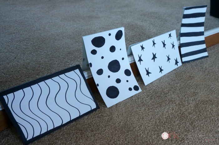 Contrast Cards For Tummy Time - Pink Oatmeal