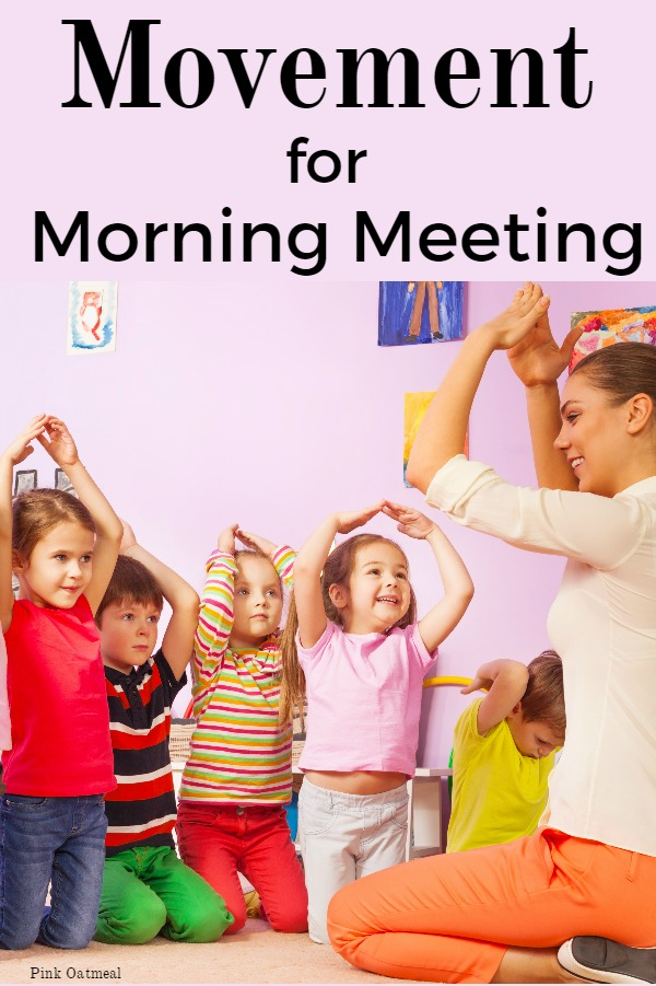 A fun idea for incorporating movement into morning meeting calendar time!