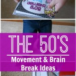 Gross motor, movement, or brain break ideas with a 1950's theme! I love using these to get the wiggles out!