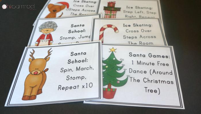 Christmas Brain Break Cards - Pink Oatmeal