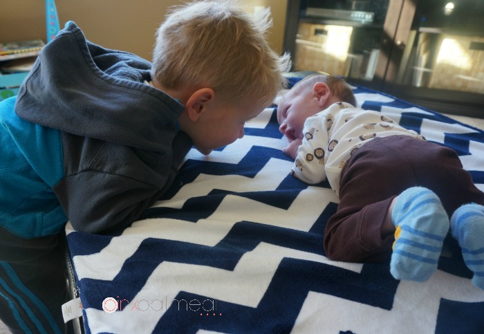 Newborn Tummy Time - Pink Oatmeal