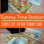 Tummy Time Station - Pink Oatmeal