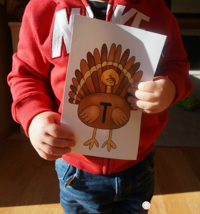 Turkey Trot Holding Sign - Pink Oatmeal