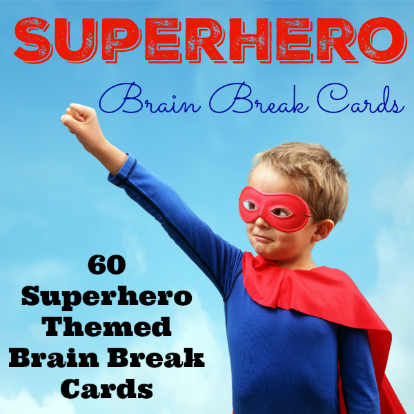 Superhero Brain Break Cards Cover