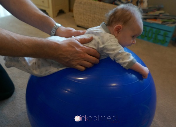 Tummy Time Exercise Ball - PInk Oatmeal