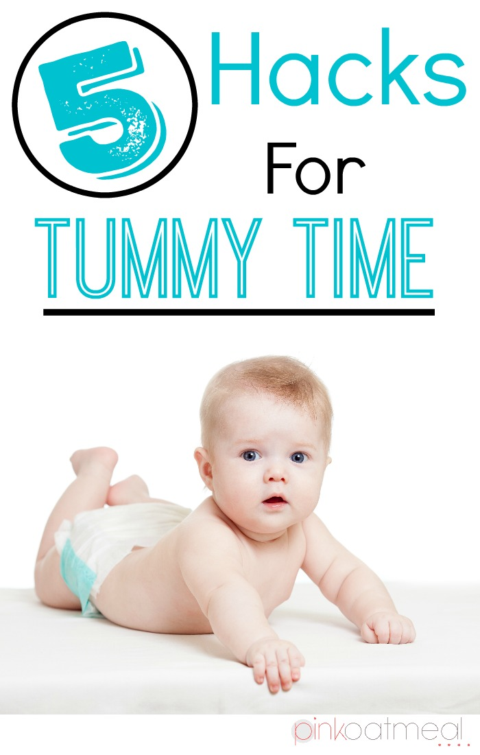 Tummy Time Hacks, Great tummy time tips perfect for your baby boy or baby girl! - Pink Oatmeal