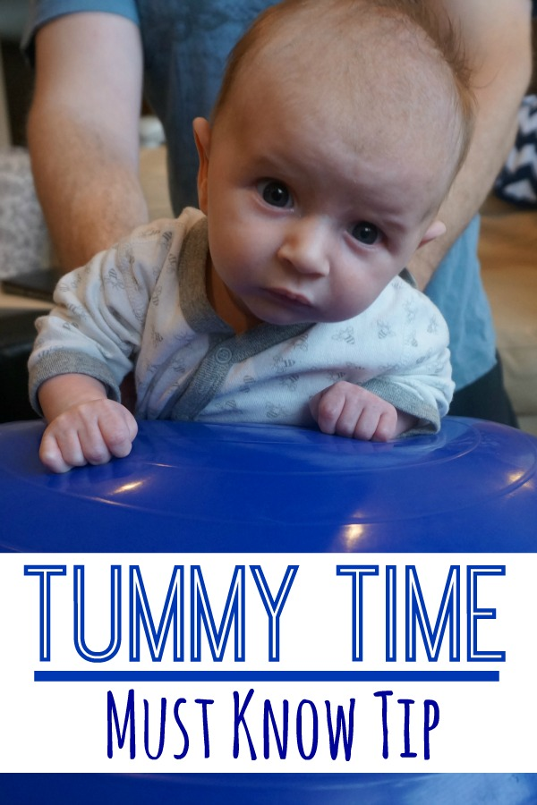 Tummy Time Tip that is a must know! Perfect for your baby girl or baby boy!  I love the idea of using a fitness ball for tummy time.   - Pink Oatmeal