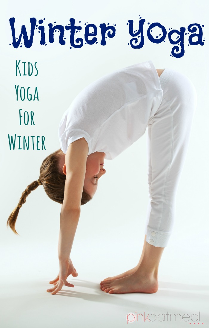 image about Printable Yoga Poses for Preschoolers called Wintertime Yoga For Young children Crimson Oatmeal