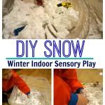 DIY Snow- Snow Trucks Sensory Play