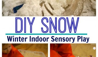 DIY Snow- Snow Trucks Sensory Play