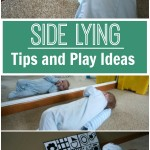 Side Lying Play Tips and Ideas - Pink Oatmeal