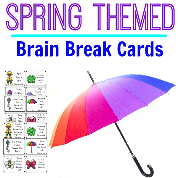 Spring Brain Break Cards Cover Updated