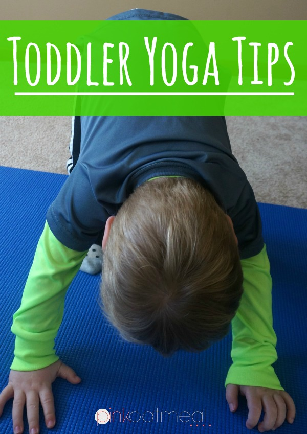 Yoga Poses For Toddlers. Great tips on how to do yoga with a toddler! I love all the different yoga pose and theme ideas too! - Pink Oatmeal