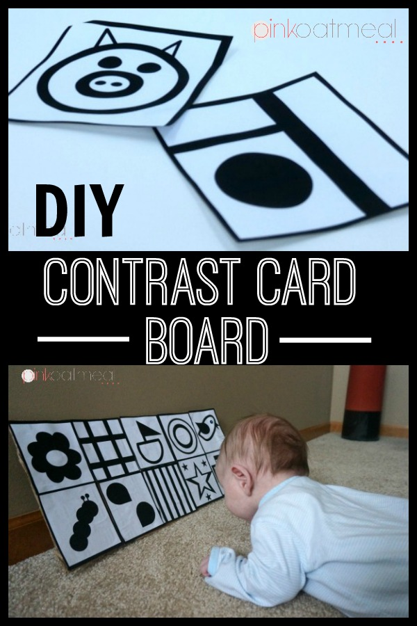 Contrast Card Board DIY in minutes. Perfect for baby play in all positions! - Pink Oatmeal