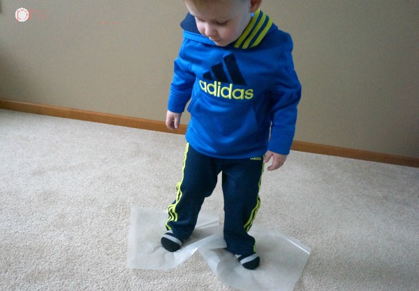 Ice skating is a great balance and kids core exercise. It's a great kids activity for the indoors. A fun winter themed activity for kids!