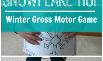 Snowflake Hop – Winter Gross Motor Game