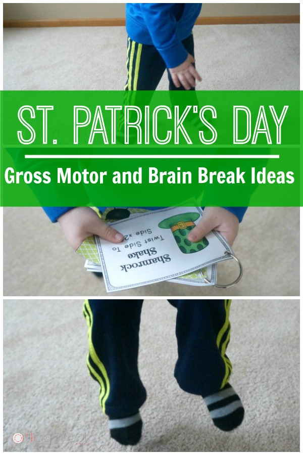 St. Patrick's Day Gross motor and brain break ideas. Works great as a St. Patrick's Day Game!