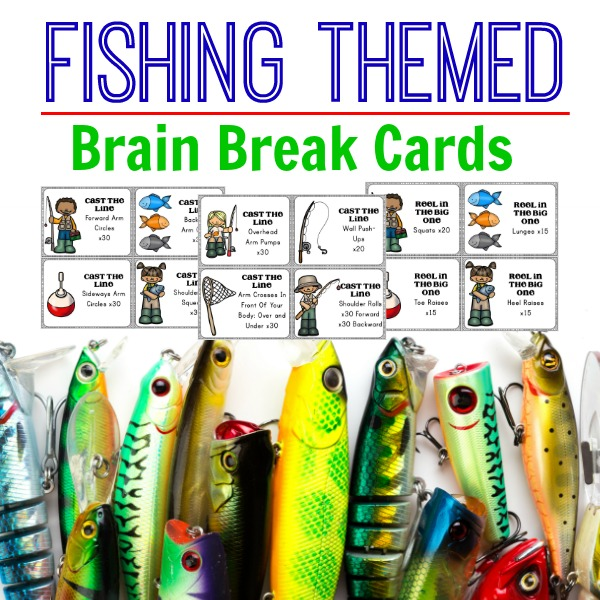 Fishing Themed Brain break Cards Cover