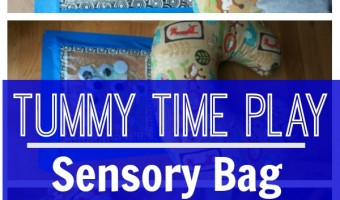 Tummy Time Sensory Bag Play