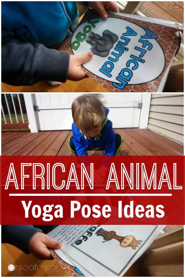 African Animal yoga pose Ideas . I love the giraffe pose!