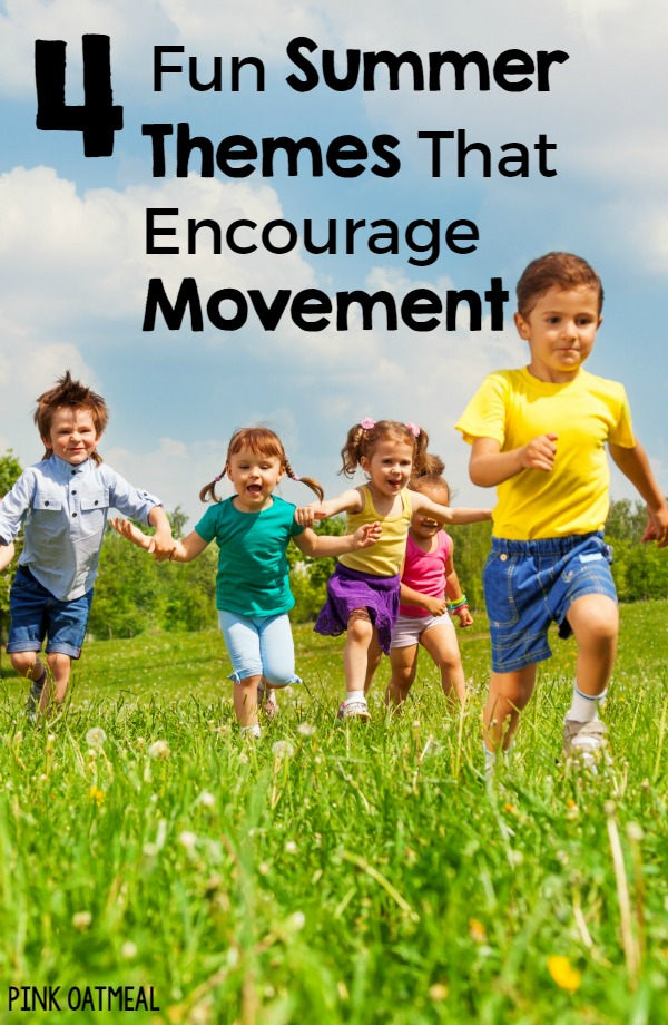 Summer Themes That Encourage Movement - I love the yoga ideas!