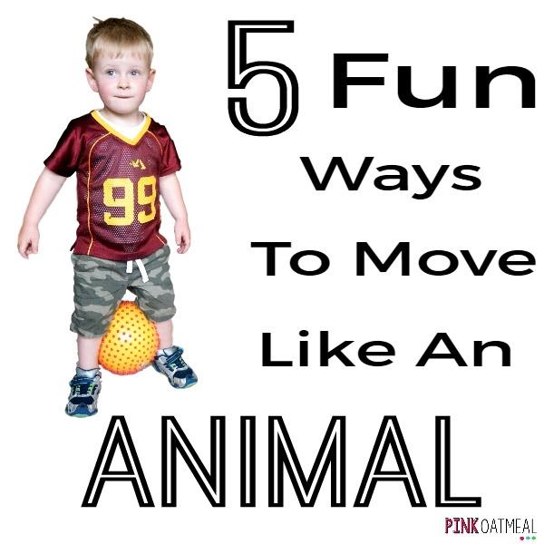 5 Fun Animal Moves Pink Oatmeal