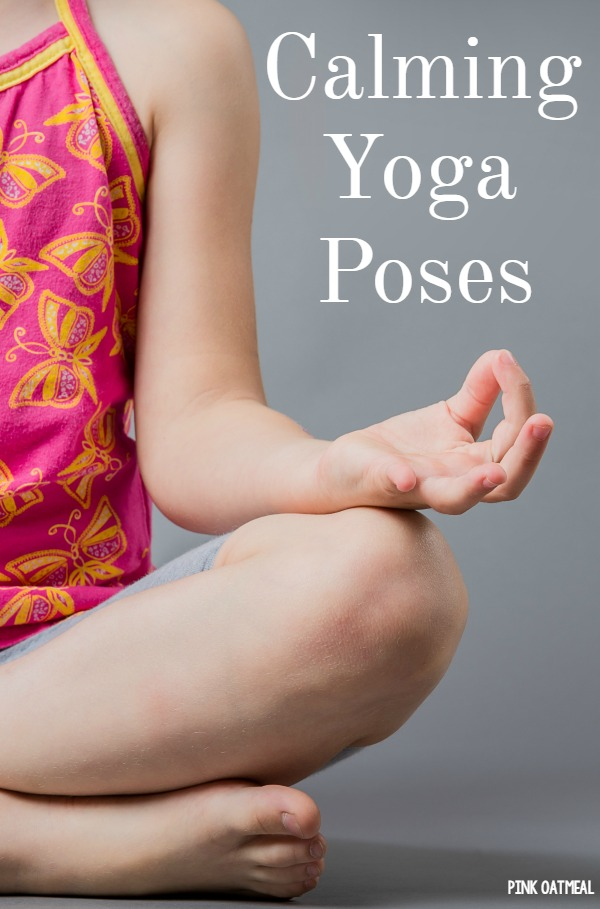 Calming yoga pose ideas!