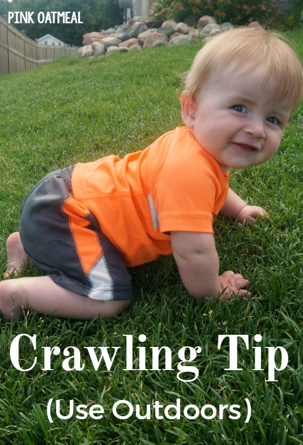 Crawling Tip Perfect For The Outdoors - Pink Oatmeal