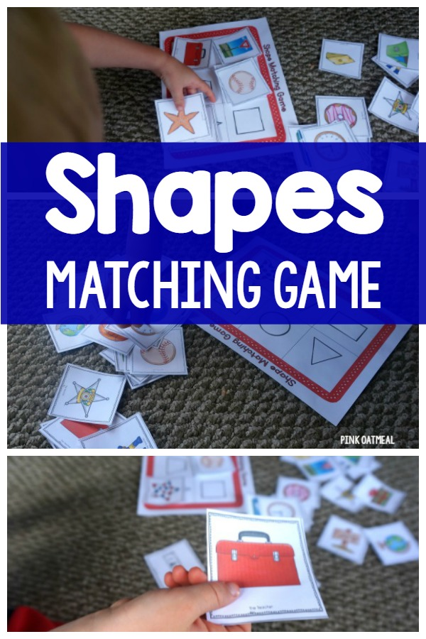 The shapes game is a super fun way to identify shapes that we see everyday!