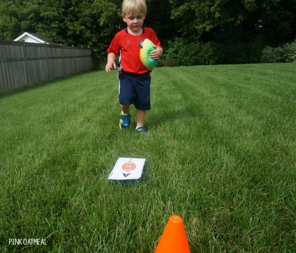 Football Gross Motor Game. The football relay is a fun brain break or game for a party with a football theme!