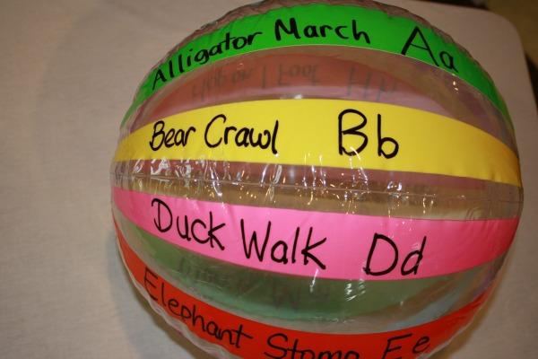ABC's of Movement Ball