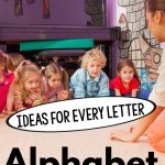 Fun alphabet activities for preschool and or alphabet activities for preschool. These alphabet activities could really be used for almost all ages! These are perfect for brain breaks or a great morning meeting activity. Great for literacy or physical therapy gross motor or occupational therapy gross motor!