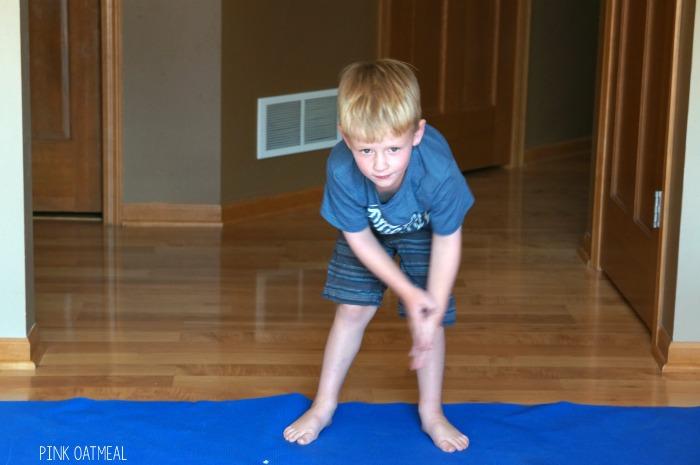 Alphabet Yoga Pink Oatmeal
