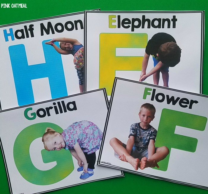 Letter Recognition Activities - Alphabet Yoga