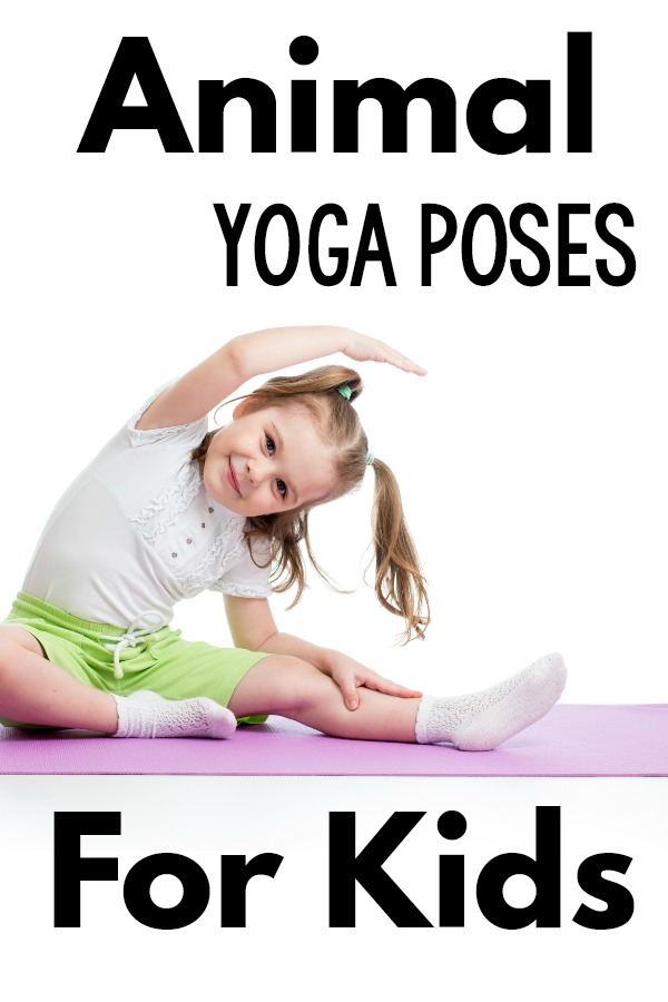 Animal yoga poses for kids - different ideas for animal themed yoga poses and moves along with different animal themes. This makes kids yoga so much more fun! The kids love posing like animals they can relate too!
