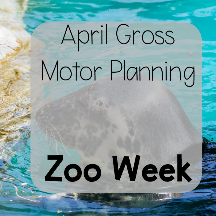 Gross Motor Planning Ideas for April. Full of fun ideas for Spring themes and a weekly break down of ideas perfect for April and Spring Gross Motor Planning.