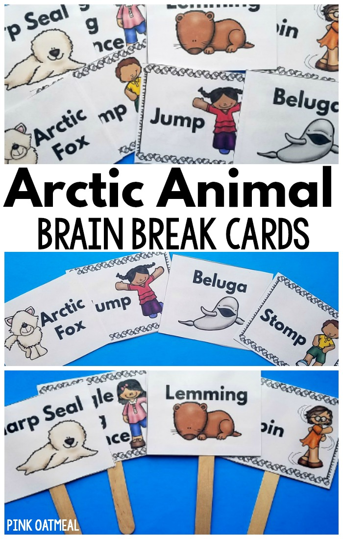 Arctic animal brain breaks are the perfect arctic animal activity! They are a great way to step away from the screen and incorporate movement with an arctic theme! They go great with your arctic animal unit and can be used all year long. Your kids will love them! #arcticanimals #brainbreaks