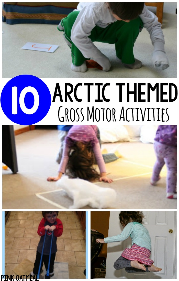 Gross motor activities with an arctic theme. Perfect for winter gross motor activities or for preschool gross motor! #winter #grossmotor #arctic