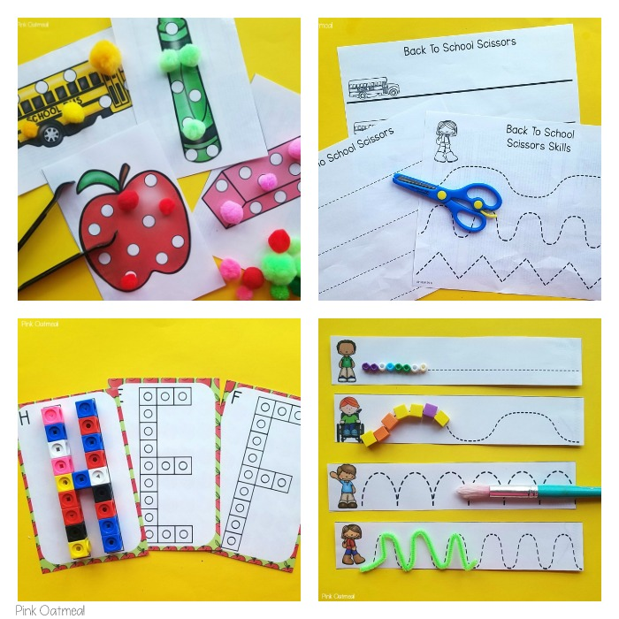 Back To School Fine Motor Activities Collage 1 Pink Oatmeal