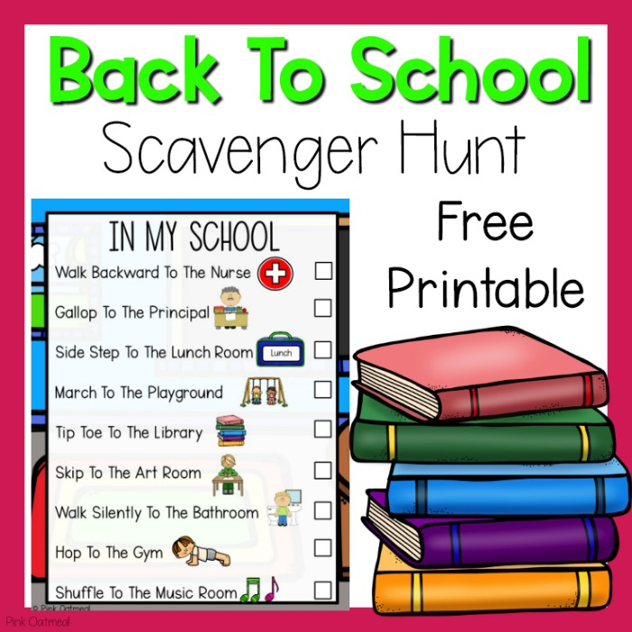 picture about Free Printable Scavenger Hunt called Absolutely free Printable Scavenger Hunts Purple Oatmeal